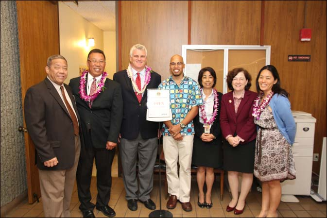 The Access to Justice Room was made possible by a partnership of the Hawaii State Judiciary, Hawaii Access to Justice Commission, Hawaii State Bar Association, the Legal Air Society of Hawaii. Pictures are some of the individuals who made it possible.