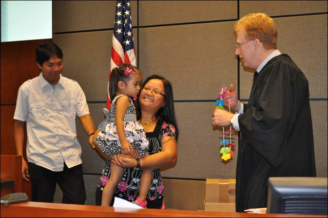 All children were welcomed by the judges with a lei hand made by Family Court employees.