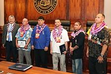Judge Kubo with the 5 men graduating May 2016.