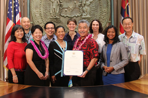 Governor Ige issues a proclamation in honor of Conflict Resolution Day