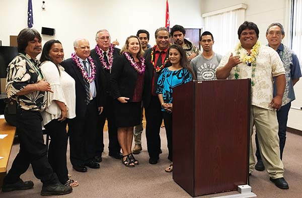 Group photograph of Maui Drug Courts staff and participants.