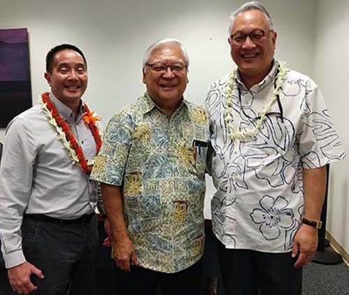 Photograph of the Judiciary's Dwight Sakai and Nathan Foo were confirmed by the Senate to serve four-year terms as Compact Administrator for the State Council for Interstate Adult Offender and Juvenile Supervision, respectively.