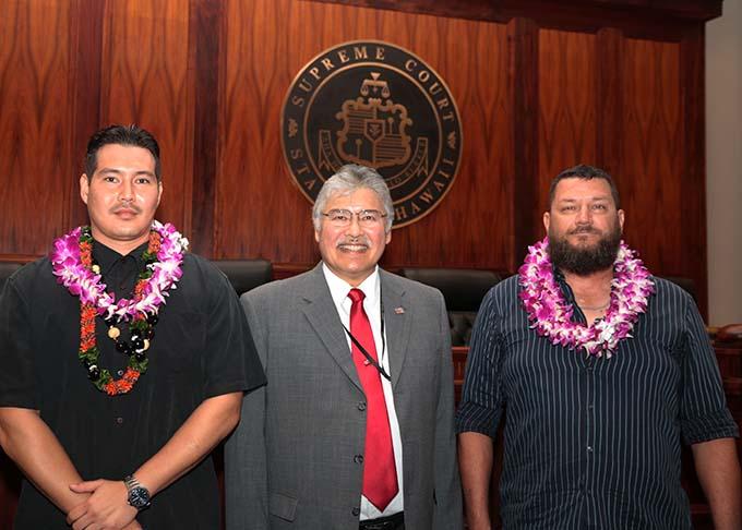 Photograph of April 6, 2018 Veterans Court Graduates