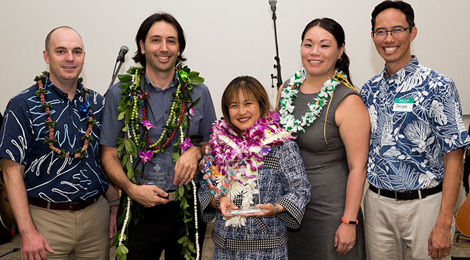 First Circuit District Court Judge Melanie M. May was honored by the Volunteer Legal Services Hawaii with its Champion of Justice Award.