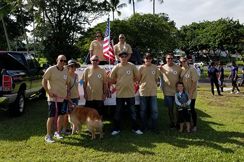 Hilo Veterans Treatment Court participate in Hilo's Veterans Day Parade