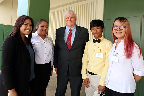 Officers of Kaimuki High School's Student Government Association were honored to meet and chat with Chief Justice Mark Recktenwald.