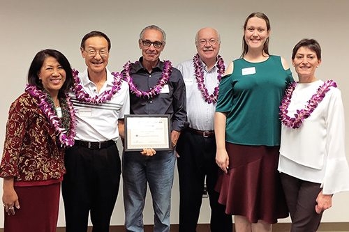 Photograph of the Conflict Resolution-Hawaii Board of Directors after winning the Peacemaker Award