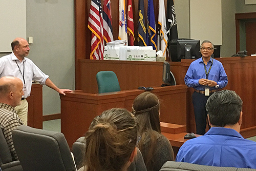 Fifth Circuit Chief Judge Randal G.B. Valenciano celebrated National Judicial Outreach Week by sharing knowledge with Kauai Community College students.