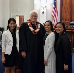 Photo of Chief Justice Mark E. Recktenwald and representatives of the Hawaii State Bar Association Young Lawyers Division.
