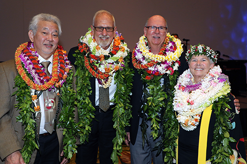 Photo of MCP Champions, from left, William Hoshijo, William Darrah, Bruce McEwan, and Dee Letts.