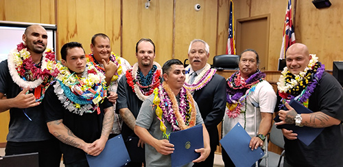 Photograph of the 46th Graduation of the Big Island Drug Court