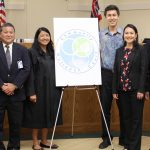 Community Outreach Court opens at Kaneohe District Court 06/10/2019. Dep. Public Defender Merlinda Garma, Chief Justice Mark Recktenwald, State Public Defender Jack Tonaki, Judge Darolyn Lendio, State Rep. Scot Matayoshi, State Rep. Lisa Kitagawa, Deputy Chief Court Admin. Calvin Ching, Deputy Prosecuting Attorney Mark Tom (Photo courtesy of Kiona Esteban, Rep. Matayoshi's Office).