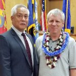 Judge Melvin Fujino with Big Island Veterans Treatment Court's 14th graduate 06/17/2019.