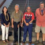 David Proudfoot, Amy Esaki, Sherman Shiraishi, Al Castillo, Kurt Bossard and Fifth Circuit Court Arbitration Judge Kathleen Watanabe at Kauai's 30th Annual Court Annexed Arbitration Program (CAAP) Conference at Kauai's Puuhonua Kaulike Judiciary Complex, September 27, 2019.