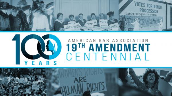 Logo: ABA 19th Amendment Exhibit