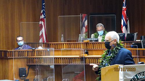 Photo of Chief Judge Joseph E. Cardoza (ret.), Judge Peter T. Cahill, and Chief Judge Richard T. Bissen, Jr.