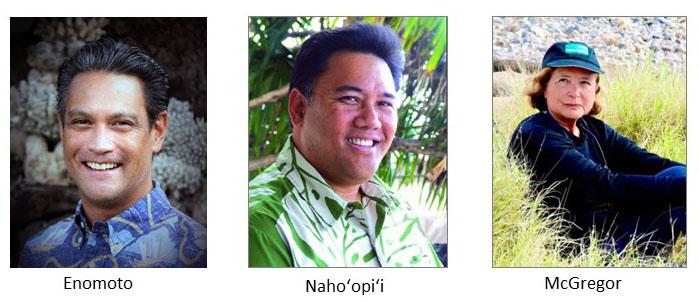 Image of Enomoto, Nahoopii, and McGregor