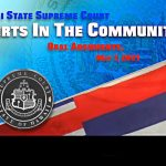The opening shot of Olelo Community Media's broadcast of the Hawaii State Judiciary's Courts in the Community oral argument, May 7, 2021.