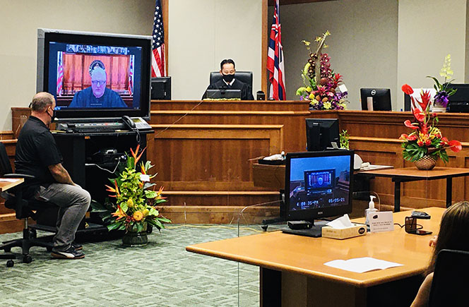 Photograph of overview of courtroom during Jeffrey Ng's ceremony