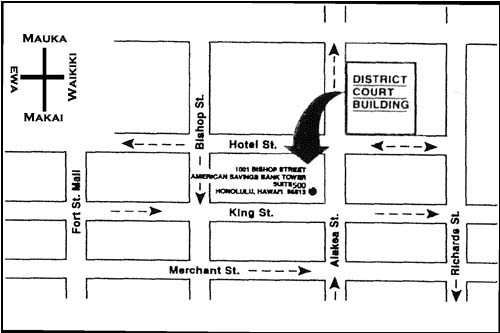 ADLRO GRAPHIC OF NEW LOCATION AT 1001 Bishop Street, American Savings Bank Tower, Suite 500, Fifth Floor