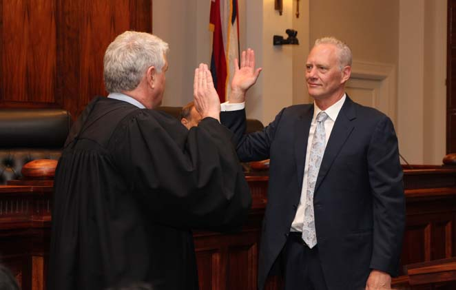 Michael D. Wilson Sworn In as Associate Justice
