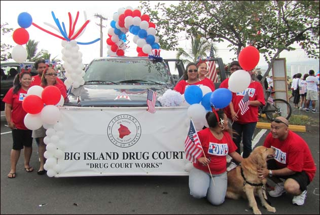 Big Island Drug Court's Parade Float Wins First Place