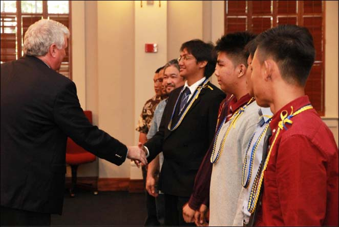 Waipahu High School students and their mentors from Communication Consulting Services, Inc. were honored by Chief Justice Mark Recktenwald at a ceremony held in the Supreme Court on May 5th..