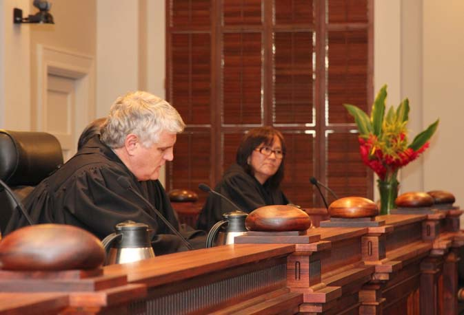 Associate Justice Sabrina McKenna spoke from the bench for the first time after her ceremony.