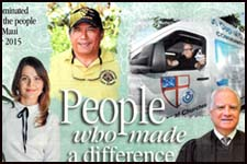 "Second Circuit Chief Judge Joseph Cardoza and AmeriCorps Advocate Magdalena Bajon, a volunteer who runs the Maui Self-Help Center through the Legal Aid Society of Hawaii, were selected as recipients of The Maui News' 2015 ""People Who Made a Difference Awards."""