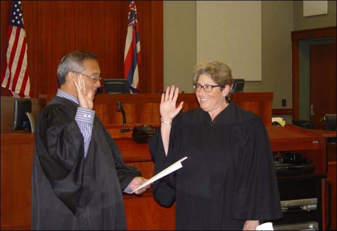 Sara Silverman being Sworn in as Per Diem Judge of the Fifth Circuit