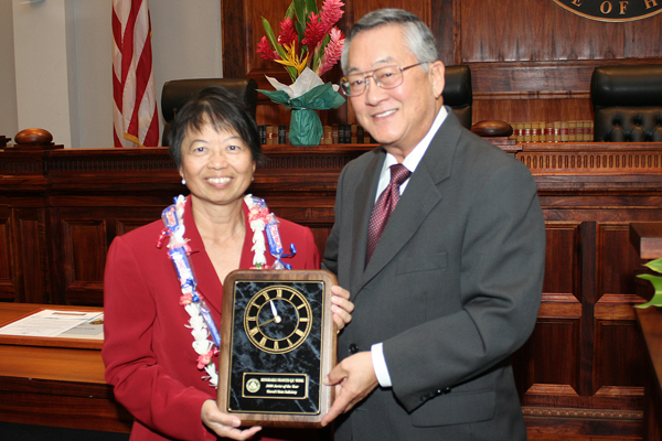 Judge Frances Wong and CJ Moon