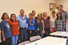 Judge Lloyd Poelman and Judge Adrianne Heely 9 participants from the 10/26/2016 Outreach Workshop for the Lanai Keiki Network and the Lanai community.