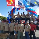 Photograph of float for Hilo Veterans Day Parade